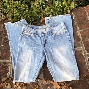 Abercrombie and Fitch light washed jeans size 4 L
